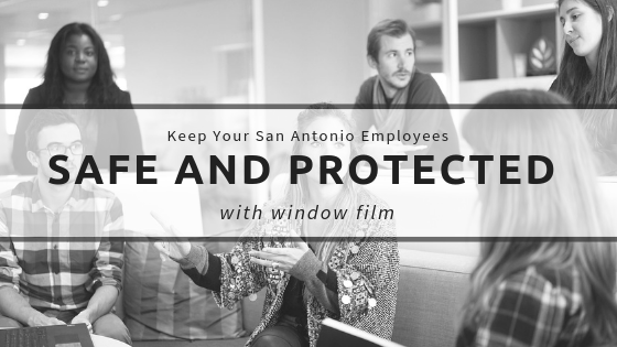 Keep Your San Antonio Employees Safe and Protected With Window Film
