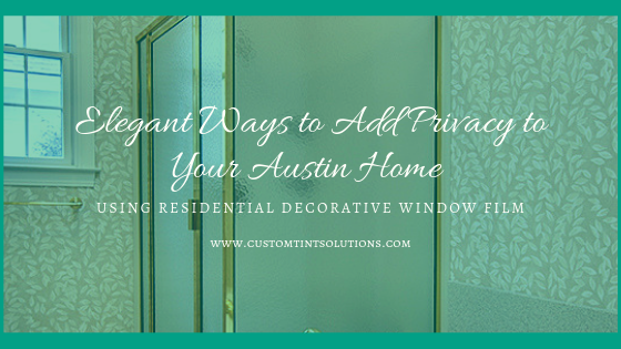 residential decorative window film austin