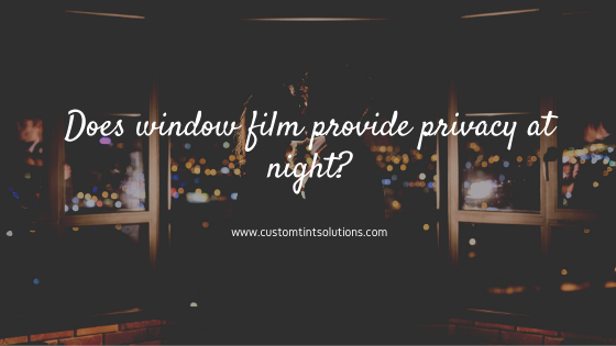 privacy window film austin night
